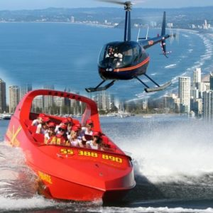 Gold Coast Jet Boat Ride plus Gold Coast Helicopter Tour