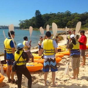 Kayaking Lesson, Sydney at Bundeena