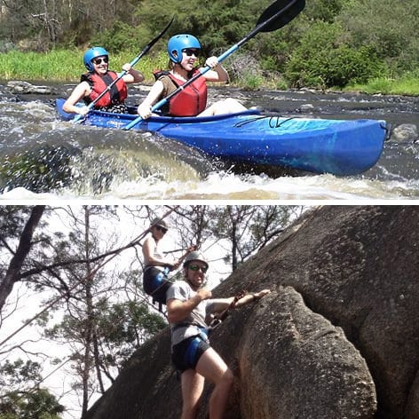 White Water Kayaking and Abseiling Day Melbourne