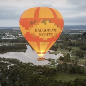 Yarra Valley hot air balloon flight.