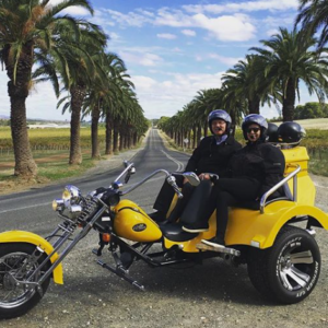 Barossa Valley Sightseeing Trike Tour, South Australia.
