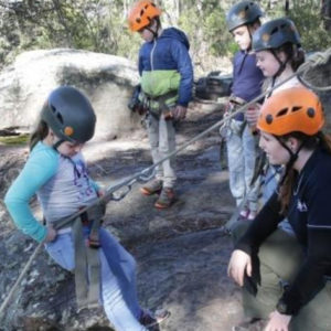 Kids as young as 7 abseiling at Glenworth Valley Abseiling, Central Coast