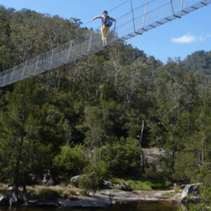 Bowtell Swing Bridge, Six Foot Track Blue Mountains