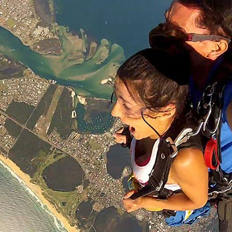 Skydive Newcastle and Free Fall over Lake Macquarie
