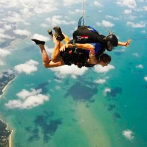 Skydiving over Mission Beach Queensland