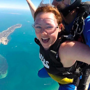 Skydiving Perth over Rockingham Beach WA
