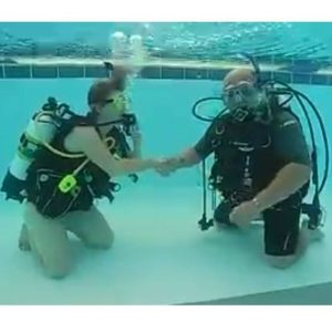 Discover Scuba! Get a thumbs up from your dive instructor.