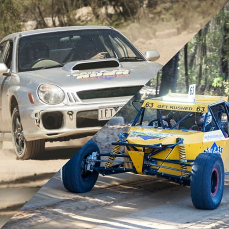 Drive a V8 Off Road Buggy and a Subaru WRX Turbo in Adelaide SA.