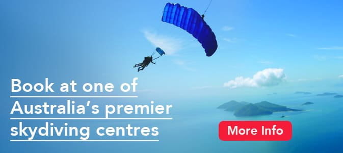 Book at one of Australia's premier skydiving centres