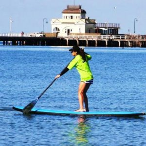 Stand Up Paddle Board Hire at St Kilda Beach.