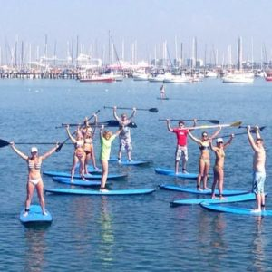 Our SUP group lessons are fun!