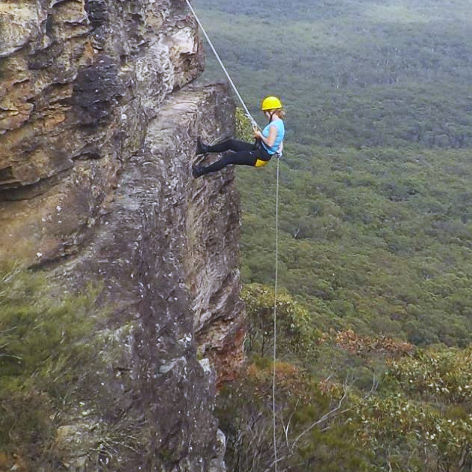 The Super Jump Abseiling Day, Blue Mountains