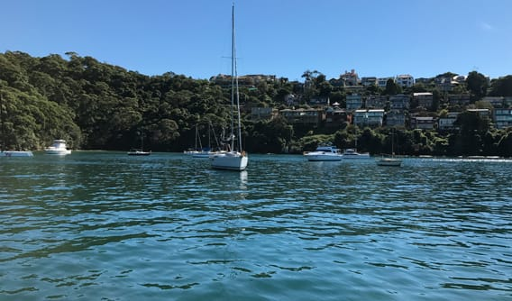 The next morning on our mooring on our Romantic Overnight Yacht Charter