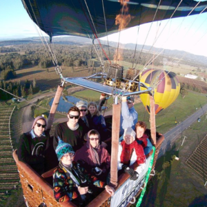 Passengers on the Hunter Valley Hot Air Balloon flight