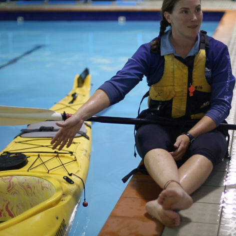 Beginners Kayaking Lesson, Hobart, Rescue Pool Session