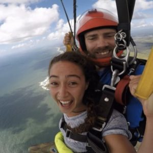 Smile for the camera! Skydiving Sunshine Coast Coolum