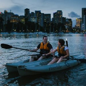 Brisbane Evening Kayak Tour Brisbane River Qld